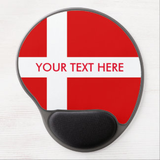 Gel-Mausunterlage Dänemark-Flagge Gel Mousepad