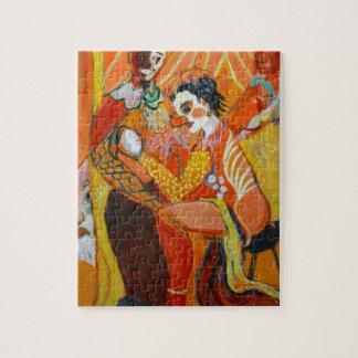 Gelächter - Clown-Malerei Puzzle