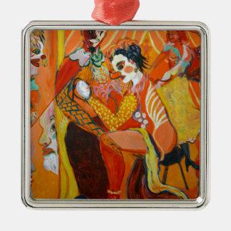 Gelächter - Clown-Malerei Silbernes Ornament