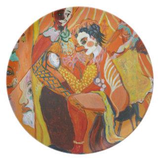Gelächter - Clown-Malerei Teller
