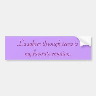 Gelächter durch Risse ist mein Lieblingsgefühl Autoaufkleber