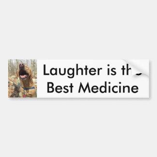 Gelächter ist die beste Medizin Autoaufkleber