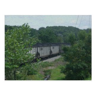 Geladener Kohlen-Zug Postkarte