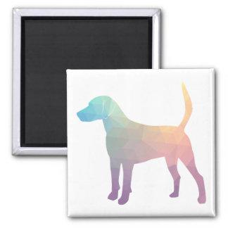 Geländeläufer-Beagle-Jagdhund-Hundegeometrische Quadratischer Magnet