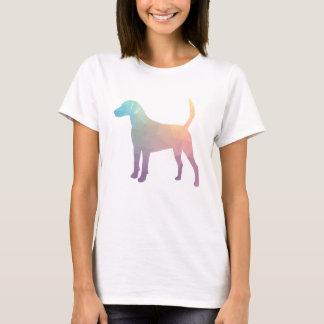 Geländeläufer-Beagle-Jagdhund-Hundegeometrische T-Shirt