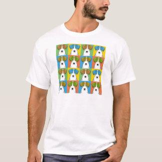 Geländeläufer-Cartoon Pop-Kunst T-Shirt