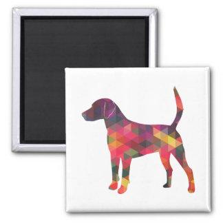 Geländeläufer-Hundebunte geometrische Quadratischer Magnet