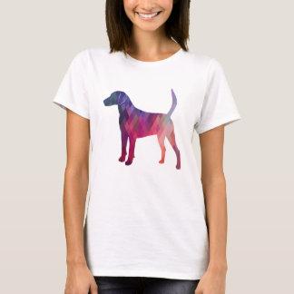 Geländeläufer-Jagdhund-Hundegeometrische T-Shirt