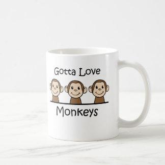 Gelangt an Liebe-Affen Kaffeetasse