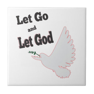 Gelassen gehen gelassene Gott-Tauben-Erholung Fliese