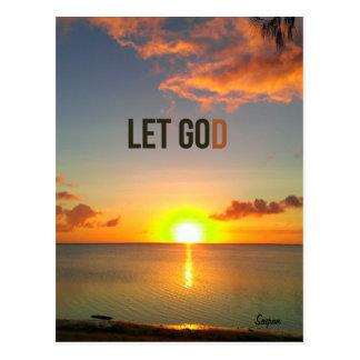 Gelassen gehen Sie Gott, Postkarte