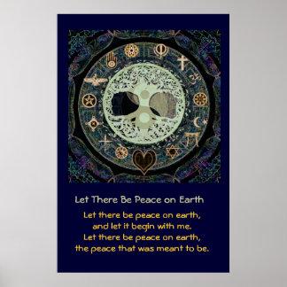 Gelassen gibt es Weltfrieden Poster