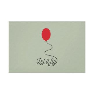 Gelassen ihm Ballon Ziw7l fliegen Leinwanddruck