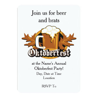 Gelassen ihm fangen Sie Oktoberfest Party 12,7 X 17,8 Cm Einladungskarte