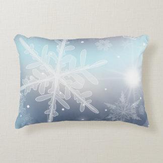 Gelassen ihm schneien! Akzent-Kissen Dekokissen