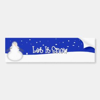 Gelassen ihm schneien autoaufkleber