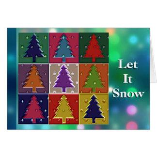 Gelassen ihm schneien einzigartige grußkarte
