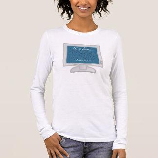 Gelassen ihm schneien… Fraktalflocken! Langarm T-Shirt