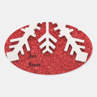 Gelassen ihm schneien Geschenk-Umbau Ovaler Aufkleber