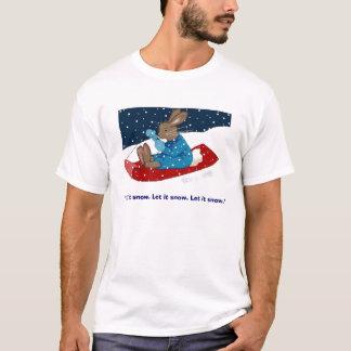 Gelassen ihm schneien Häschen-T-Stück T-Shirt