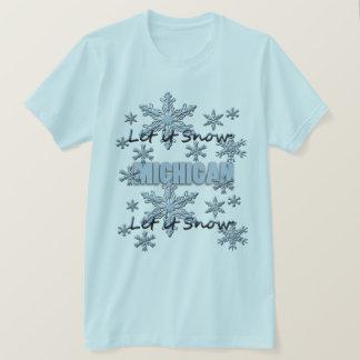 Gelassen ihm schneien hellblauer T - Shirt