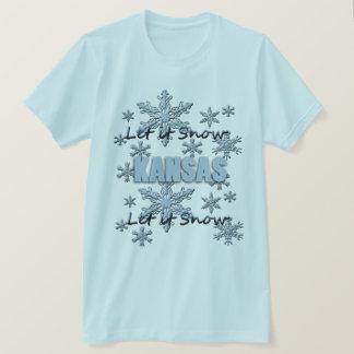 Gelassen ihm schneien hellblauer T - Shirt Kansas
