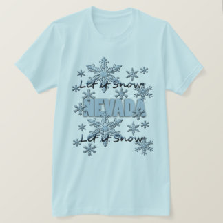Gelassen ihm schneien hellblauer T - Shirt Nevadas