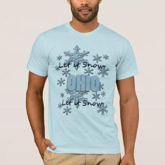Gelassen ihm schneien hellblauer T - Shirt Ohios