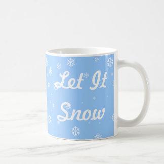 Gelassen ihm schneien kaffeetasse
