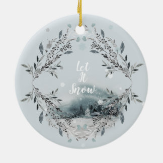 Gelassen ihm schneien keramik ornament