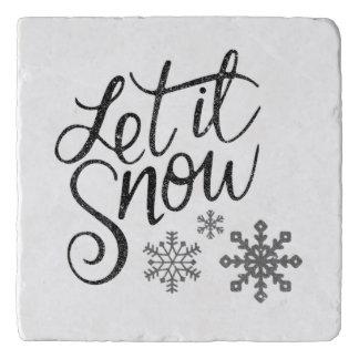 Gelassen ihm schneien Marmorküchen-Geschenk Trivet Töpfeuntersetzer