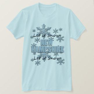 Gelassen ihm schneien New Hampshire hellblauer T - T-Shirt