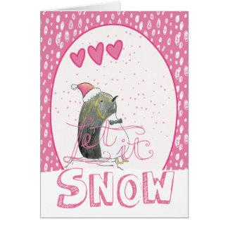 Gelassen ihm schneien | niedliches karte