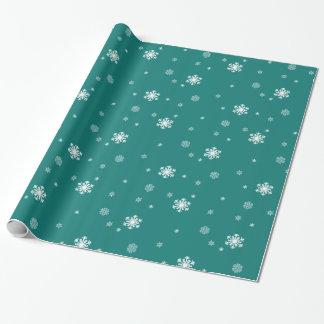 Gelassen ihm schneien, Schneeflocke-Muster auf Geschenkpapier