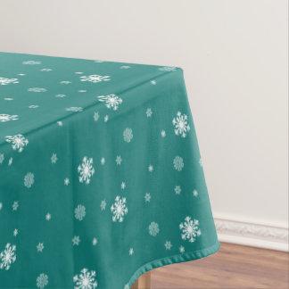 Gelassen ihm schneien, Schneeflocke-Muster auf Tischdecke