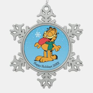 Gelassen ihm schneien! schneeflocken Zinn-Ornament