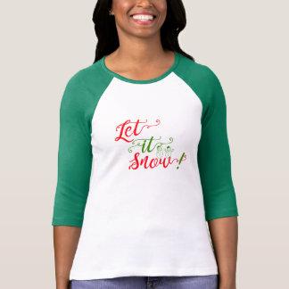 gelassen ihm schneien Shirtentwurfs-Frauenspitze T-Shirt