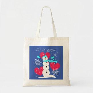 Gelassen ihm schneien! Snowman-Tasche Tragetasche