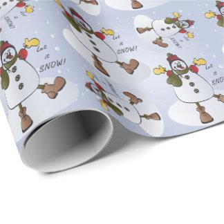 Gelassen ihm schneien Snowman-Weihnachten Geschenkpapier