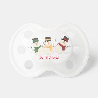 Gelassen ihm schneien Snowmen-Schnuller Schnuller