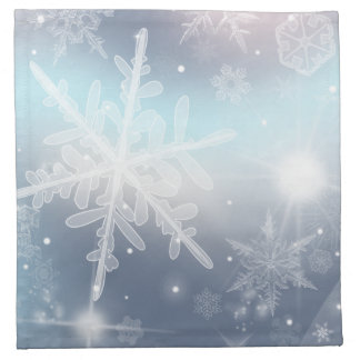 Gelassen ihm schneien! Stoff-Servietten Stoffserviette
