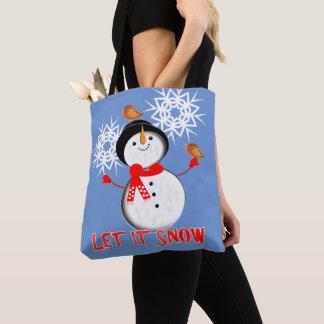 Gelassen ihm schneien tasche