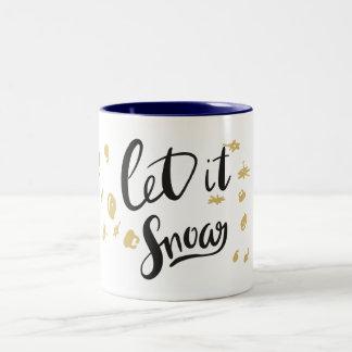 Gelassen ihm schneien Tasse