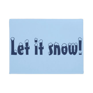 Gelassen ihm schneien Tür-Matte Doormat