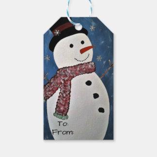 Gelassen ihm schneien Weihnachtsumbauten Geschenkanhänger