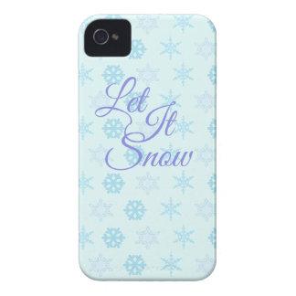 Gelassen ihm seien Sie Snowy-Weihnachten Case-Mate iPhone 4 Hülle