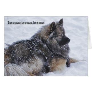 Gelassen ihm zu schneien, lassen Sie es schneien, Karte