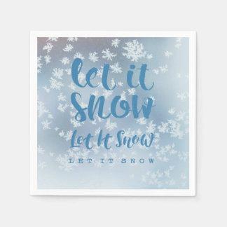 Gelassen ihm zu schneien, lassen Sie es schneien, Papierserviette