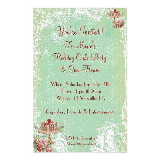 Einladung Zum Kuchen Essen