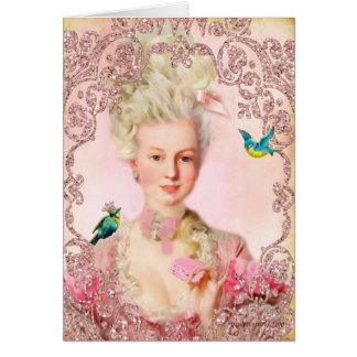 Gelassen ihnen essen Sie Macarons Marie Antoinette Grußkarte